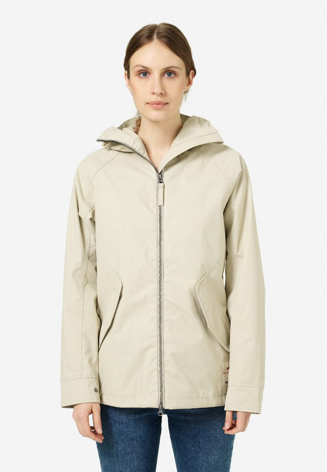 SAREK - Waterproof jacket - sand