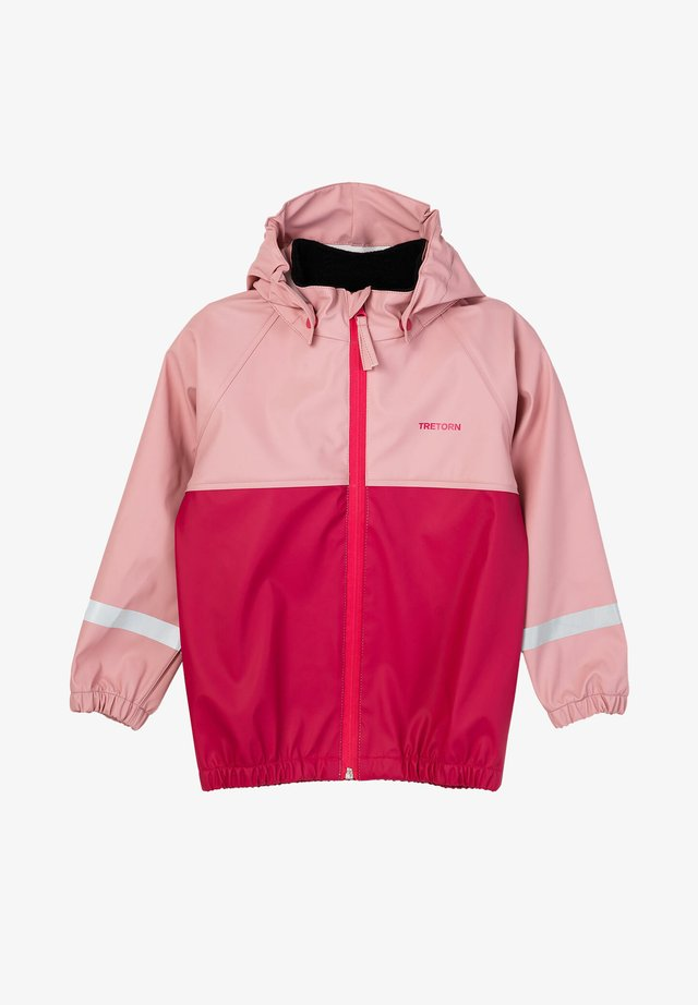 SET - Regnjacka - pink/light blue