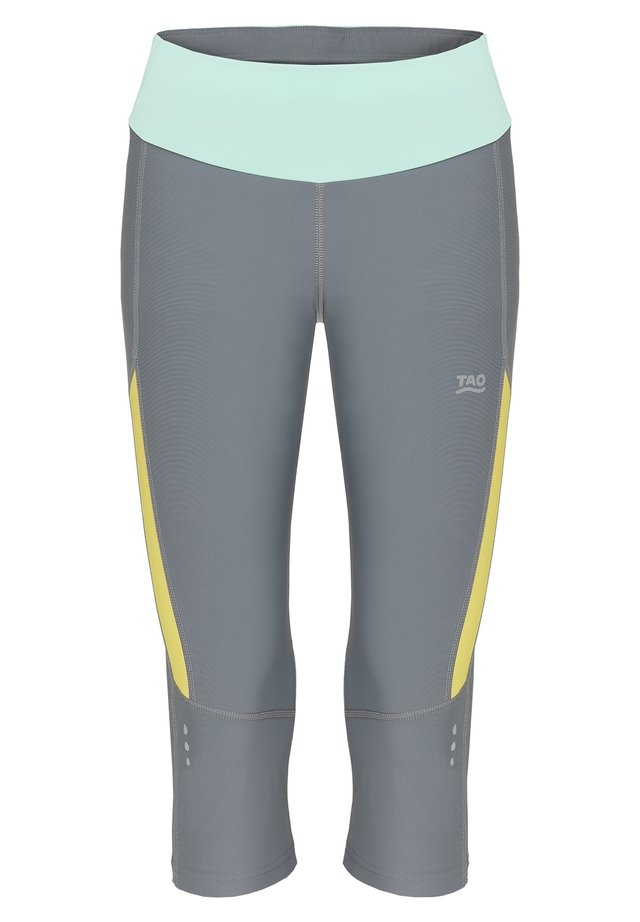 EBRU - 3/4 sports trousers - steel/citron