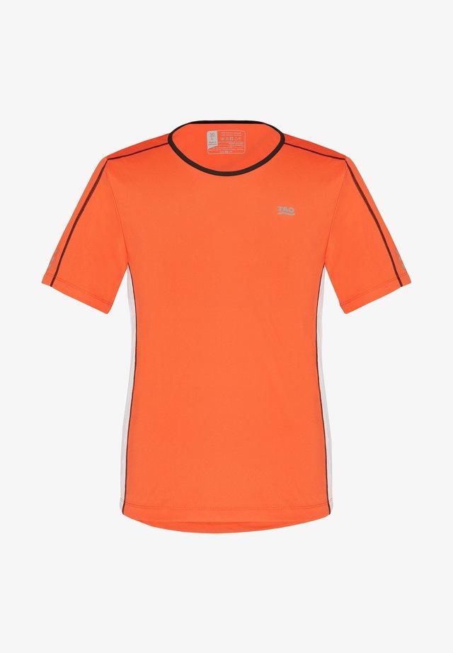 BEAR - Print T-shirt - orange/white/black