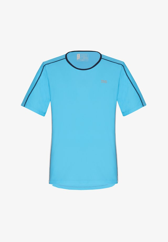 BEAR - Print T-shirt - light blue/white