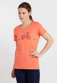 Triple2 - LAAG WOMEN BIKE - T-Shirt print - living coral - 0