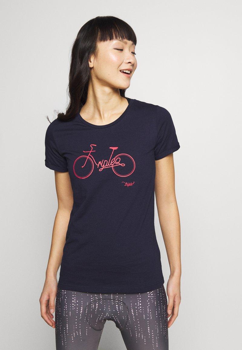 Triple2 - Print T-shirt - peacoat