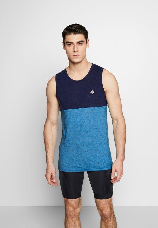 DEEL NUL TANK MEN - Funkční triko - mykonos blue