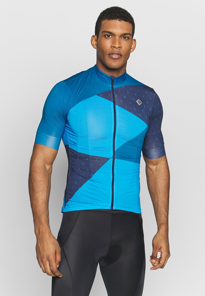Triple2 - VELOZIP MEN - Print T-shirt - mykonos blue