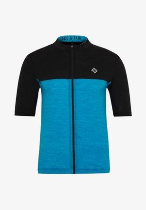 VELOZIP NUL MEN - Print T-shirt - mykonos blue