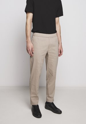 GRAHAM ALARO STRIPE - Trousers - beige stone
