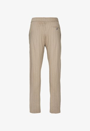 GRAHAM ALARO STRIPE - Pantalon classique - beige stone
