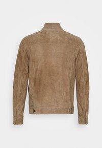 Theory - FLETCHER - Leather jacket - dark bark/asphalt - 1