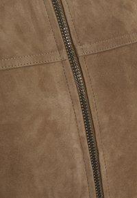 Theory - FLETCHER - Leather jacket - dark bark/asphalt - 2