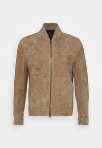 Theory - FLETCHER - Leather jacket - dark bark/asphalt - 0
