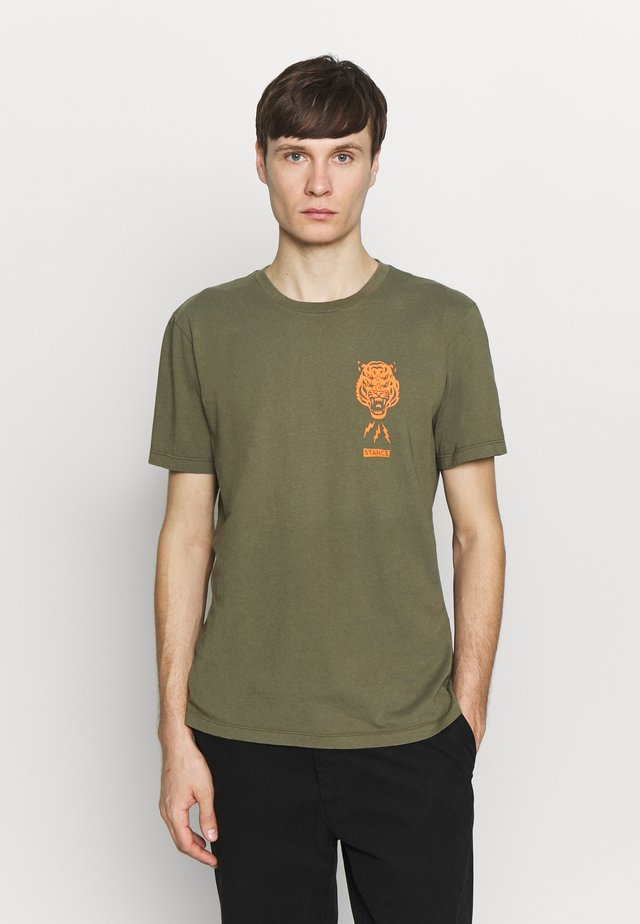 BREATHER - T-shirt med print - green