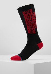 Stance - STRANGER THINGS - Calcetines - black/red - 0