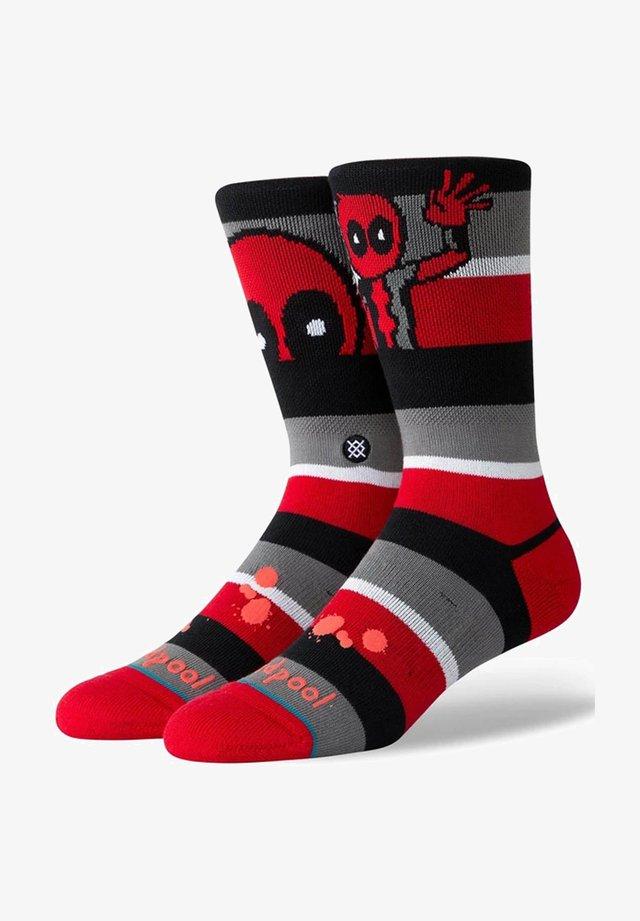 DEADPOOL STRIPE - Socks - red