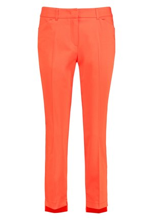 MIT HIGH-LOW-SAUM  - Trousers - tigerlilly orange