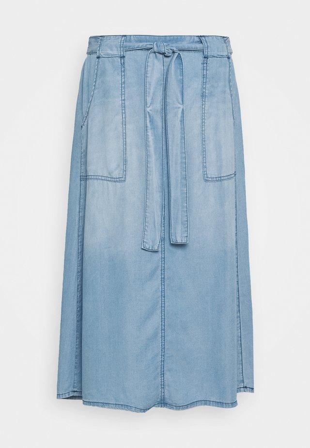 Spódnica trapezowa - blue denim