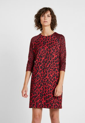Žerzejové šaty - lipstick red