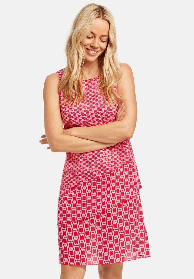 MIT VOLANTS - Korte jurk - pink