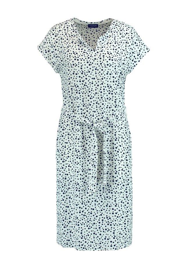 Korte jurk - offwhite gemustert