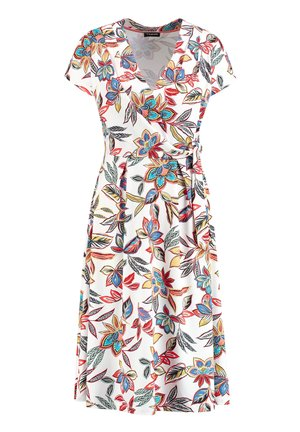 MIT BLUMEN-PRINT - Jersey dress - multi-coloured