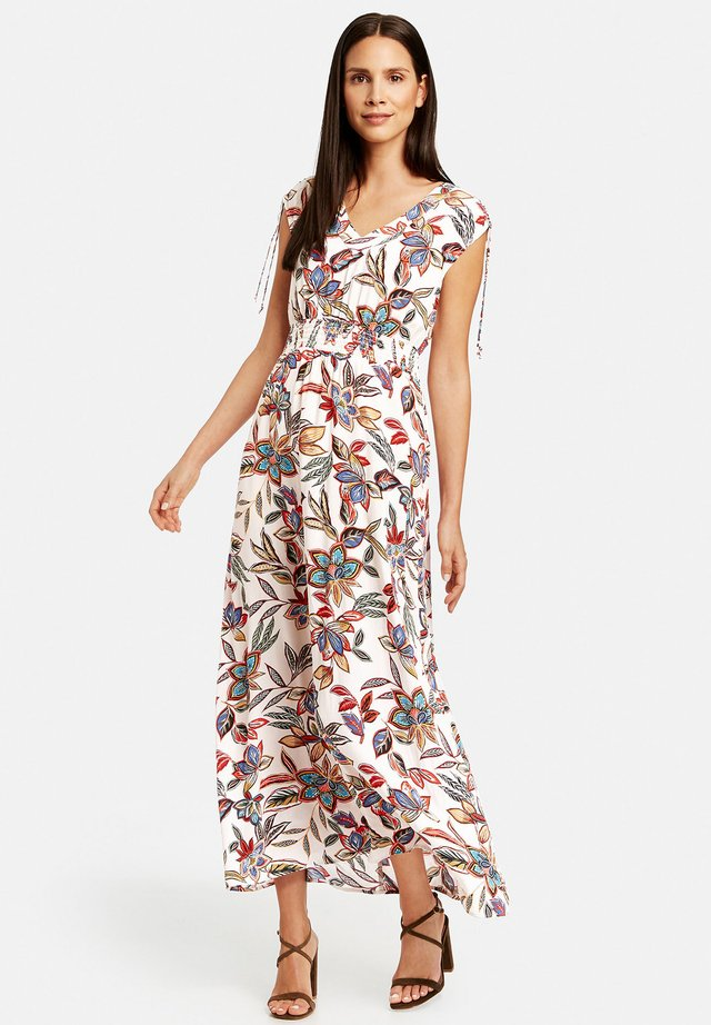 Maxi dress - offwhite gemustert
