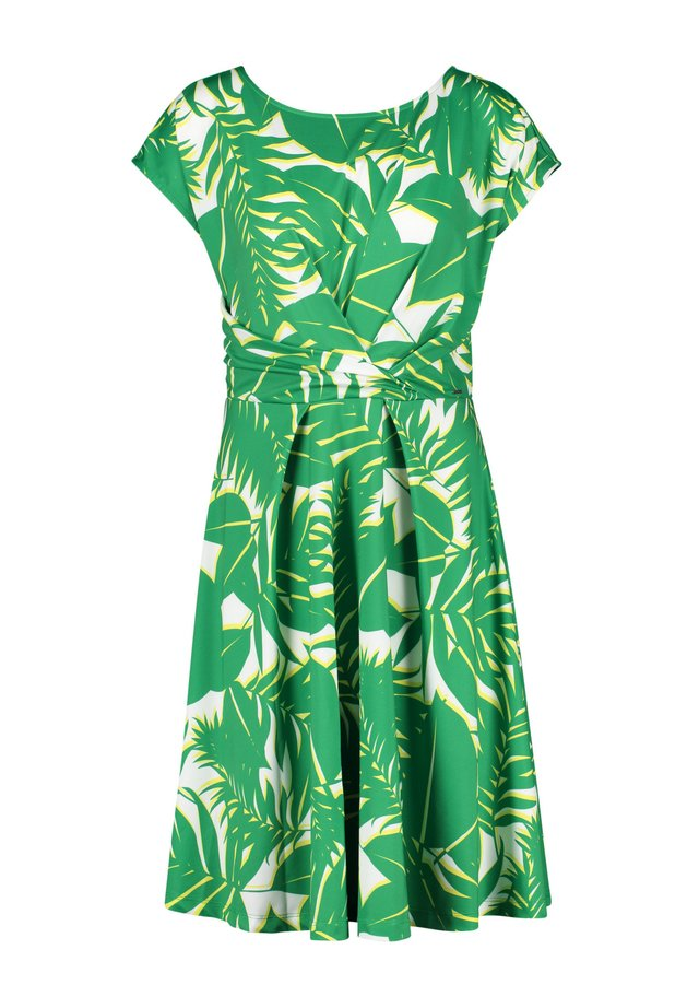 MIT PALMENBLÄTTER-PRINT - Jerseyjurk - simply green gemustert