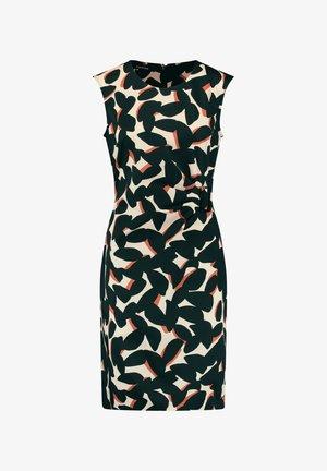 MIT SEITLICHER RAFFUNG - Shift dress - almond gemustert