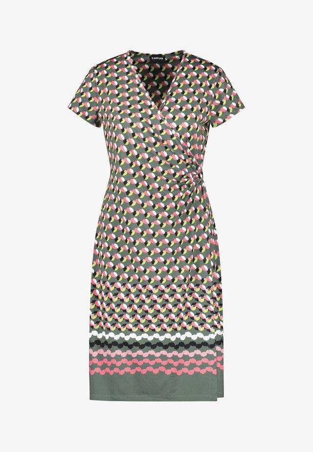 Korte jurk - evergreen gemustert