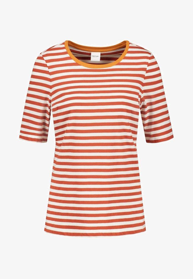 Taifun - T-Shirt print - red/off-white
