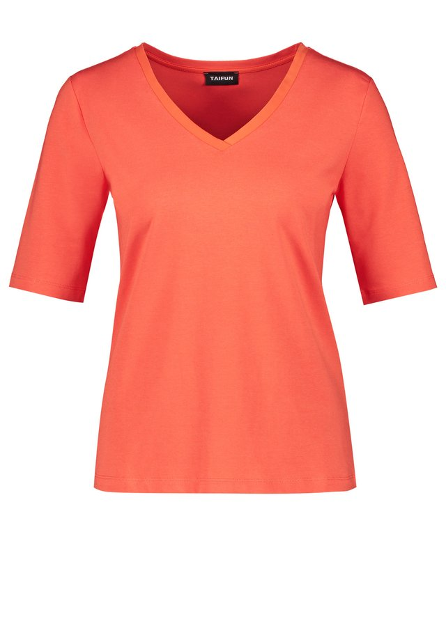 MIT V-AUSSSCHNITT - Langarmshirt - tigerlilly orange