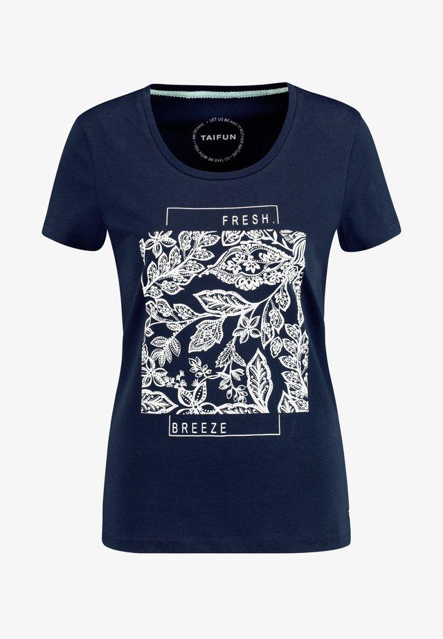 T-Shirt print - dark ocean