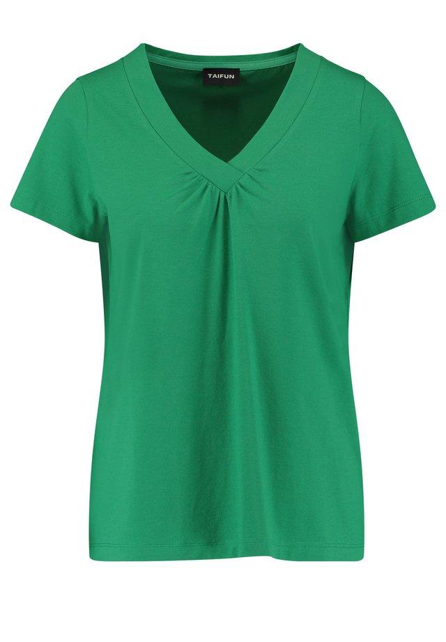 MIT V-AUSSCHNITT - T-shirt basique - simply green
