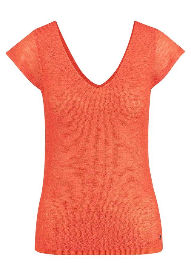 T-Shirt basic - tigerlilly orange