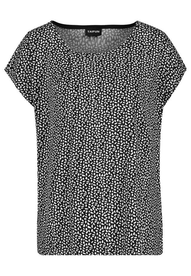 MIT MINIMAL-PRINT - Print T-shirt - black gemustert