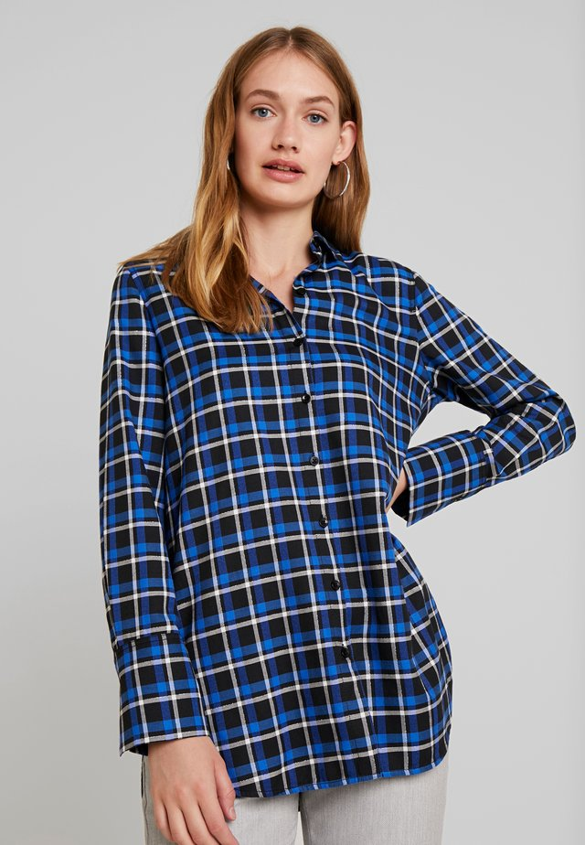 Button-down blouse - cobalt blue