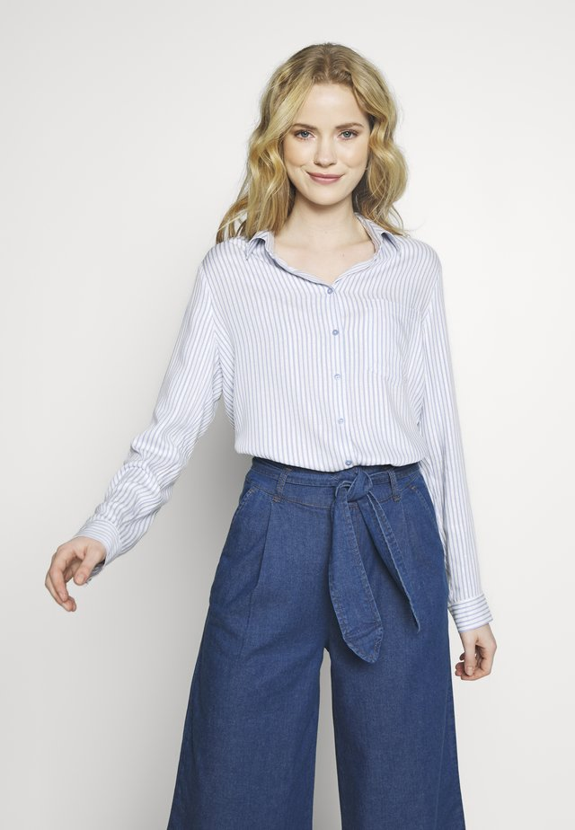 Button-down blouse - blue marguerite
