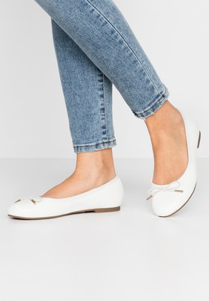 Ballet pumps - white matt