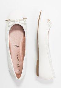 Tamaris - Ballerina's - white matt - 3