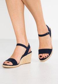 Tamaris - Wedge sandals - navy - 0