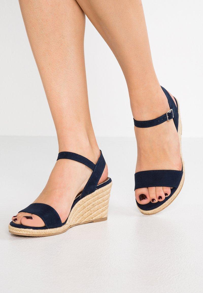 Tamaris - Wedge sandals - navy
