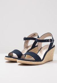 Tamaris - Wedge sandals - navy - 4