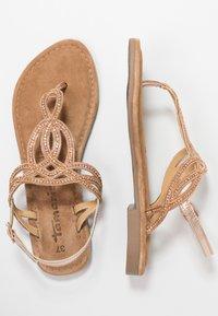 Tamaris - T-bar sandals - rose metallic - 3