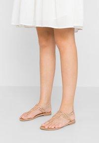 Tamaris - T-bar sandals - rose metallic - 0