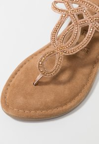 Tamaris - T-bar sandals - rose metallic - 2