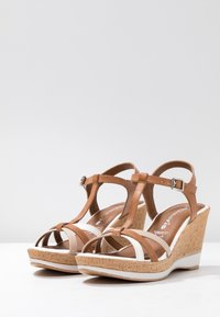 Tamaris - High heeled sandals - cognac - 4