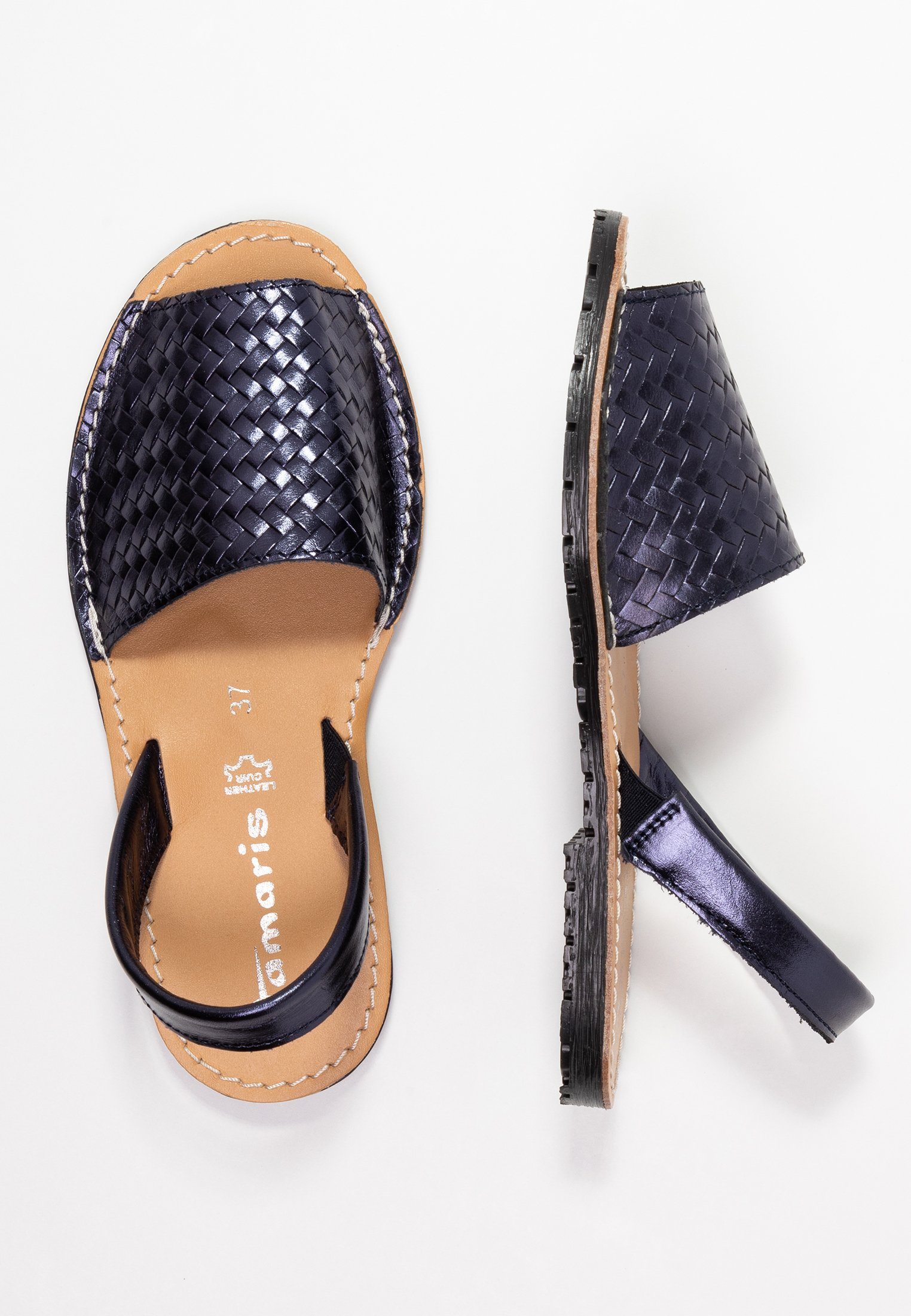Sandalen navy metallic