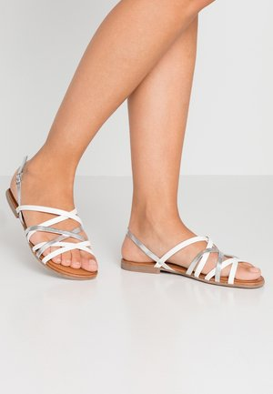 Sandalen - white/silver