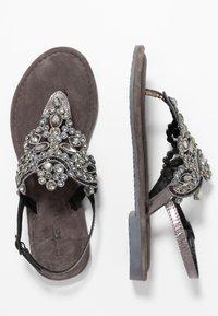 Tamaris - T-bar sandals - pewter - 3