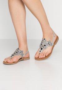 Tamaris - T-bar sandals - silver - 0