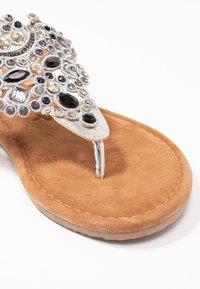 Tamaris - T-bar sandals - silver - 2